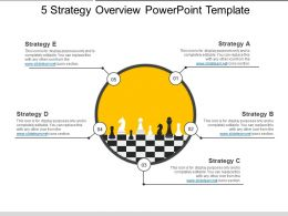 5 Strategy Overview Powerpoint Template