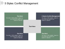 5 Styles Conflict Management Ppt Powerpoint Presentation Infographics Graphic Images Cpb