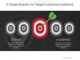 5 Target Boards For Target Customers Audience Powerpoint Images
