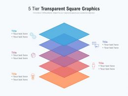 5 Tier Transparent Square Graphics