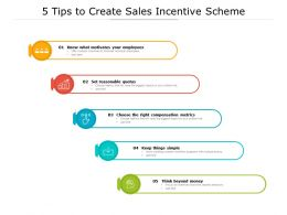 5 Tips To Create Sales Incentive Scheme