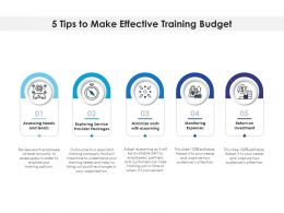 5 Tips To Make Effective Training Budget