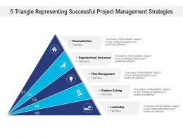 5 Triangle Representing Successful Project Management Strategies