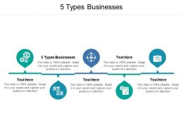 5 Types Businesses Ppt Powerpoint Presentation File Mockup Cpb