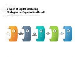 5 Types Of Digital Marketing Strategies For Organization Growth