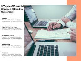 5 Types Of Financial Services Offered To Customers
