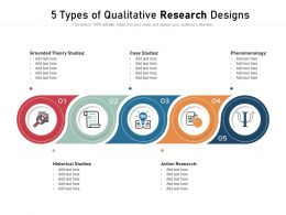 5 Types Of Qualitative Research Designs