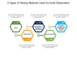 5 Types Of Testing Methods Used For Audit Observation