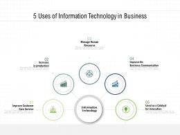 5 Uses Of Information Technology In Business