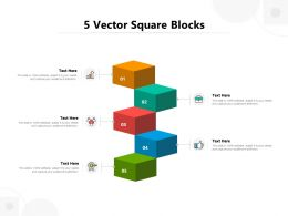 5 Vector Square Blocks