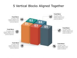 5 Vertical Blocks Aligned Together