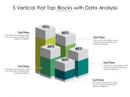 5 Vertical Flat Top Blocks With Data Analysis