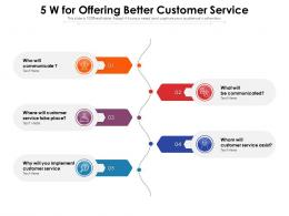 5 W For Offering Better Customer Service