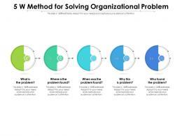 5 W Method For Solving Organizational Problem