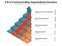 5 W Of Communicating Organizational Decisions