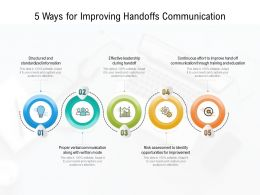 5 Ways For Improving Handoffs Communication