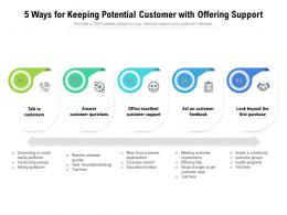 5 Ways For Keeping Potential Customer With Offering Support