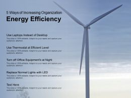 5 Ways Of Increasing Organization Energy Efficiency