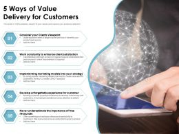 5 Ways Of Value Delivery For Customers