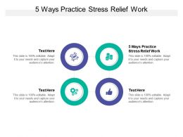 5 Ways Practice Stress Relief Work Ppt Powerpoint Presentation Inspiration Cpb