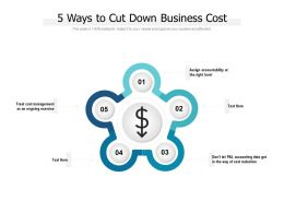 5 Ways To Cut Down Business Cost