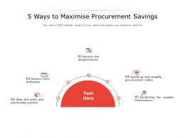 5 Ways To Maximise Procurement Savings