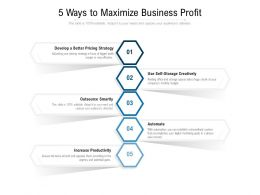 5 Ways To Maximize Business Profit