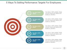 5 Ways To Setting Performance Targets For Employees Good Ppt Example