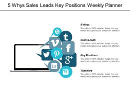 5 Whys Sales Leads Key Positions Weekly Planner Cpb