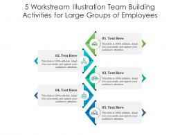 5 Workstream Illustration Team Building Activities For Large Groups Of Employees Infographic Template