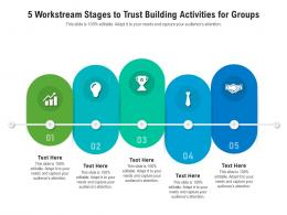 5 Workstream Stages To Trust Building Activities For Groups Infographic Template