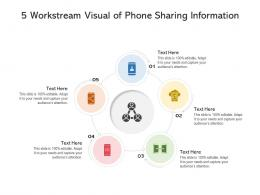 5 Workstream Visual Of Phone Sharing Information Infographic Template