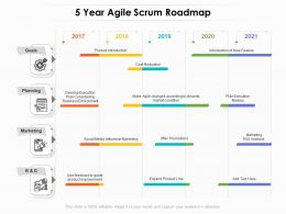 5 Year Agile Scrum Roadmap