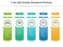 5 Year Agile Strategic Management Roadmap