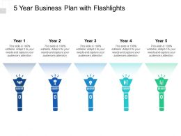 5 Year Business Plan With Flashlights