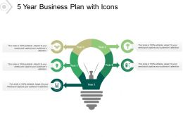 5 Year Business Plan With Icons