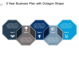 5 Year Business Plan With Octagon Shape