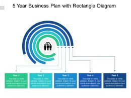 5 Year Business Plan With Rectangle Diagram