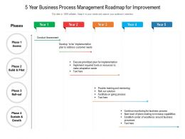 5 Year Business Process Management Roadmap For Improvement