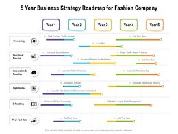5 Year Business Strategy Roadmap For Fashion Company