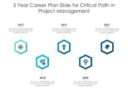 5 Year Career Plan Slide For Critical Path In Project Management Infographic Template