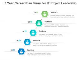 5 Year Career Plan Visual For IT Project Leadership Infographic Template