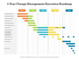 5 Year Change Management Execution Roadmap