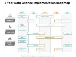 5 Year Data Science Implementation Roadmap