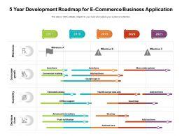 5 Year Development Roadmap For E Commerce Business Application