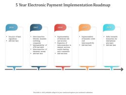 5 Year Electronic Payment Implementation Roadmap