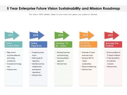 5 Year Enterprise Future Vision Sustainability And Mission Roadmap