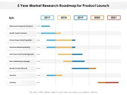 5 Year Market Research Roadmap For Product Launch