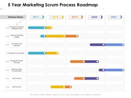 5 Year Marketing Scrum Process Roadmap