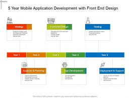5 Year Mobile Application Development With Front End Design